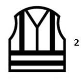 Waarschuwingskledij met hoge zichtbaarheid - en iso 20471: 2013 klasse 2