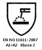 Protective clothing for use in welding and allied processes - en iso 11611: 2007 a1+a2 klasse 2