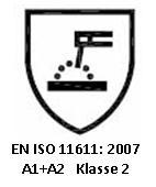 Beschermende kleding voor gebruik bij lassen en verwante werkzaamheden - en iso 11611: 2007 a1+a2 klasse 2