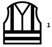 Waarschuwingskledij met hoge zichtbaarheid - en iso 20471: 2013 + a1: 2016 klasse 1