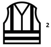 Waarschuwingskledij met hoge zichtbaarheid - en iso 20471: 2013 + a1: 2016 klasse 2