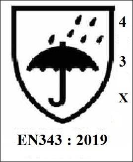 Beschermende kleding tegen regen - en 343-4-3:2019